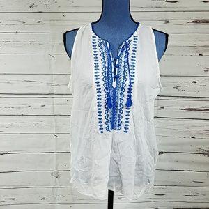 NWT Beautiful White Sleeveless Top by Ralph Lauren